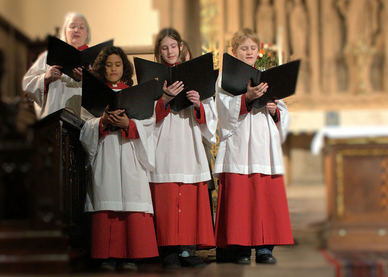 Choir sings at the installation of a new rector at Manhattan's Episcopal Church of the Good Shepherd in January of 2010.