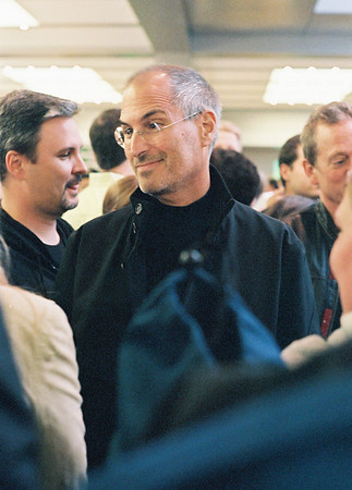 Apple CEO Steve Jobs at 2006 opening of the company's Fifth Avenue store in Manhattan.