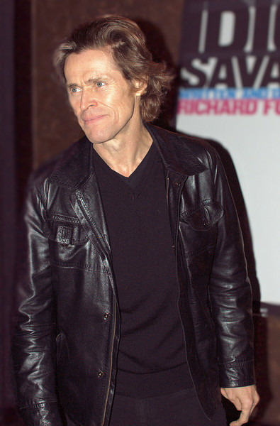"""Actor Willem Dafoe at cast party following his 2009 opening night performance in Richard Foreman's """"Idiot Savant"""" at New York's Public Theater."""