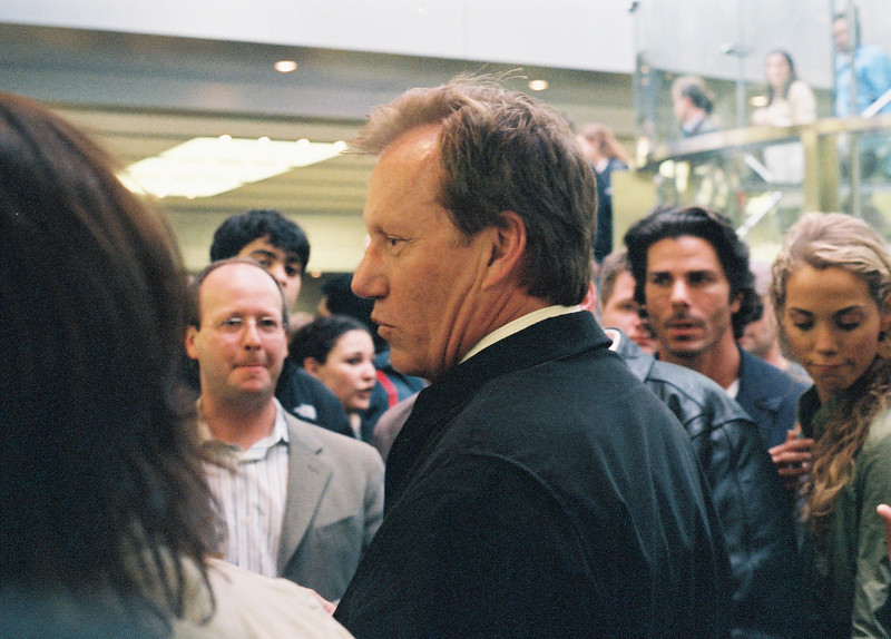 Actor James Woods at June, 2006, opening of Apple Fifth Avenue store in New York.