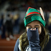A fan looks on in the cold during the Thanksgiving Eve game on Wednesday November 23, 2016 between Nashoba Tech and Monty Tech at Nashoba.  (Sentinel & Enterptrise photo/Jeff Porter)