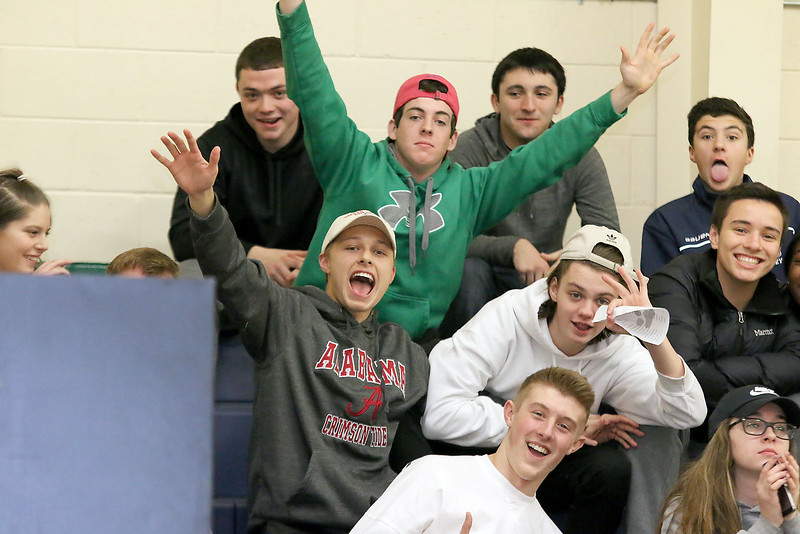 Lowell Catholic High School basketball played Pope John High School on Monday night in Lowell. SUN/JOHN LOVE