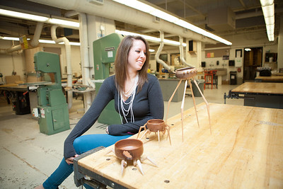 Rebecca Degroot, Sculpture and Functional Art Student.