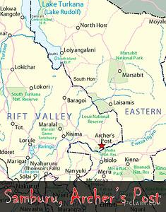 Archer's Post - Kenya Tribal Tour Map