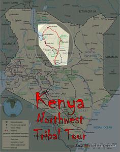 Kenya Tribal Tour Map