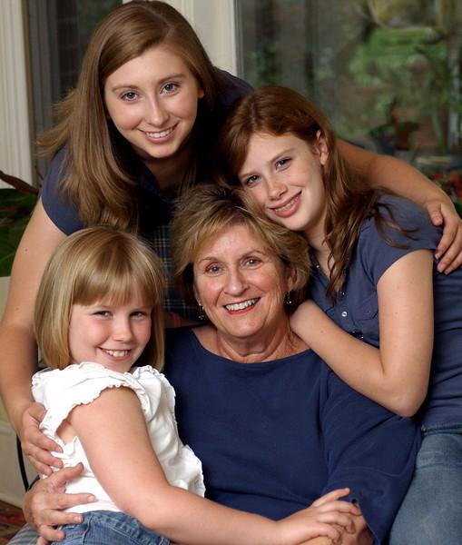 Jackie Roberts and grandchildren