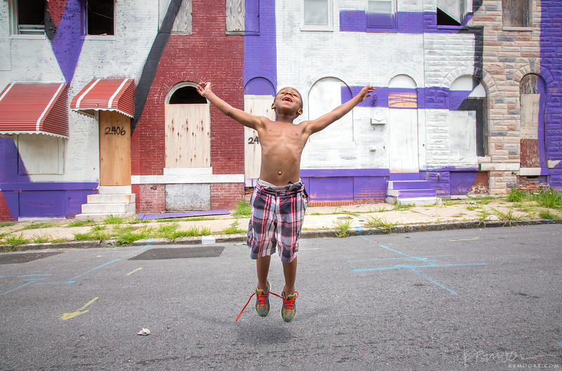 This young boy's family was the last remaining on a block slated for demolition in Baltimore city.
