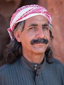 a bedouin, a man, a portrait