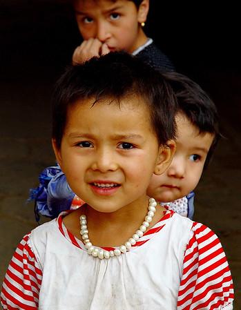 Uyghur children, Kashgar