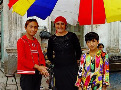 Uyghur mother and daughters, Kashgar