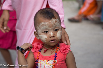 Young girl at the Aye Yeik Mon Girls Orphanage located in Mandalay, Myanmar.