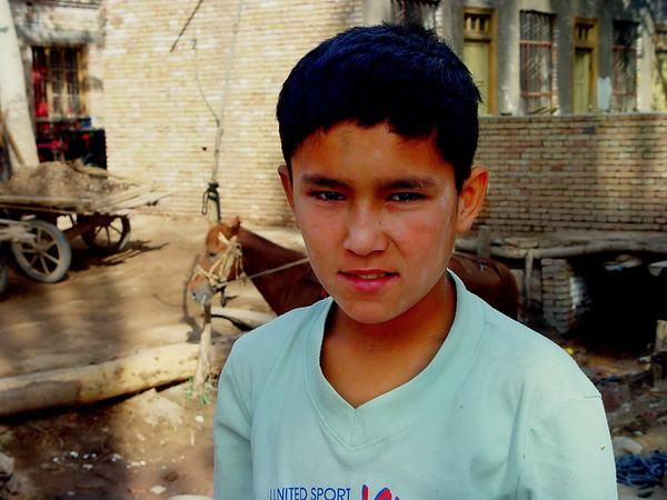 Boy at Kashgar Livestock Bazaar