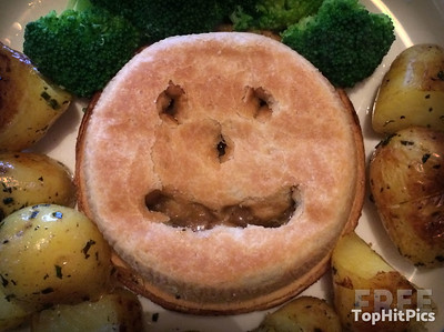 A Pie With A Smiley Face!