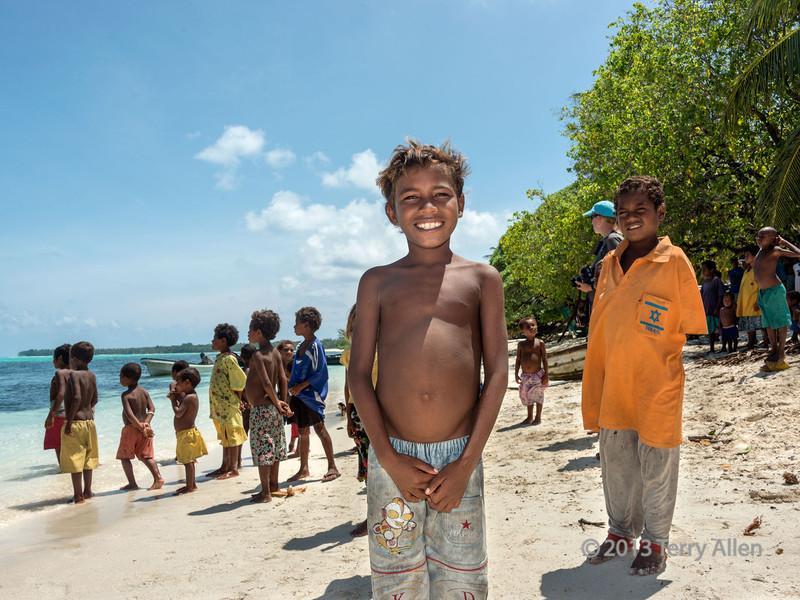 Children on beach, Laughlan Islands, Papua New Guinea
