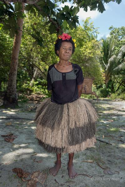 Village matriarch, Bodaluna Island, Laughlan Islands, Papua New Guinea