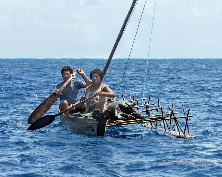 Outrigger canoe, Bodaluna Island, Laughlan Islands, Papua New Guinea