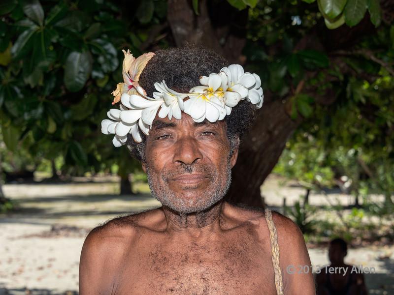 Portrait of a village elder, Bodaluna Island, Laughlan Islands, Papua New Guinea