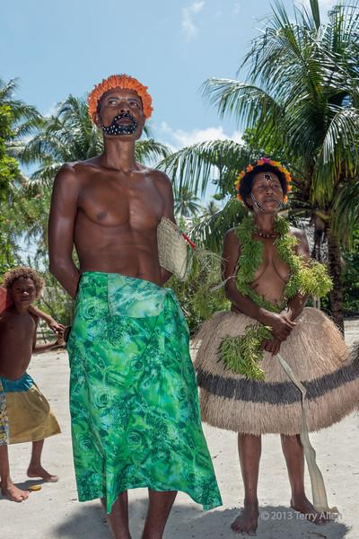 Couple in traditional dress,  Bodaluna Island, Laughlan Islands, Papua New Guinea