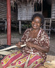 Woman starting to weave a basket, Bonarua Is, Brumer Islands, PNG