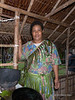 Woman with cooking pots, Bonarua Is, Bumer Islands, PNG
