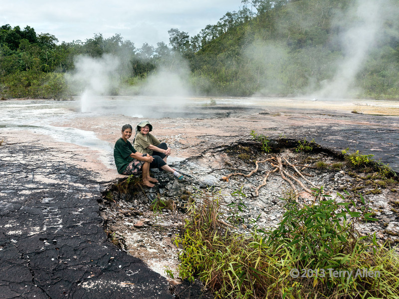 Resting by the hot springs, Fergusson Is, D'Entrecasteaux Islands, PNG