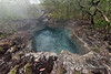 Blue hot pool at hot springs, Fergusson Is, D'Entrecasteaux Islands, PNG