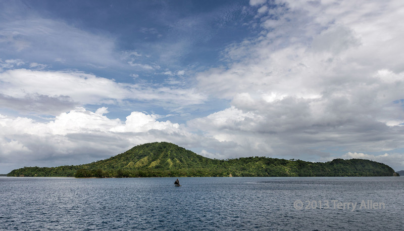 Dobu Island, D'Entrecasteaux Islands, PNG<br /> <br /> You can see the ancient volcanic cone in this photo.