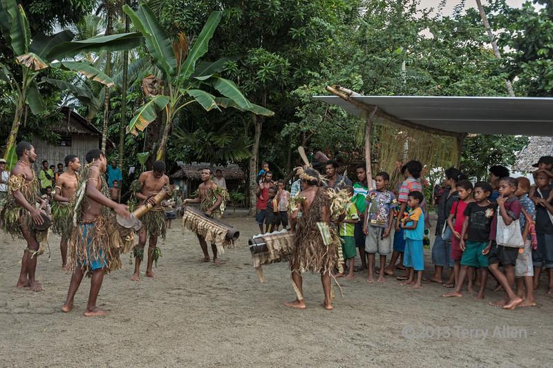 Warriors dancing, Dobu Island, D'Entrecasteaux Islands, PNG
