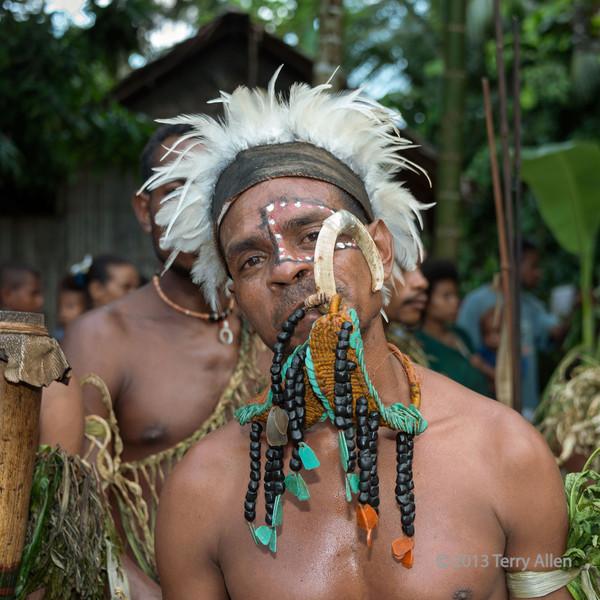 Portrait of a warrior-7, Dobu Island, D'Entrecasteaux Islands, PNG