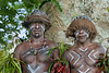 Portrait of two warriors, Nekar Village, Luganville, Espiritu Santo Is, Vanuatu