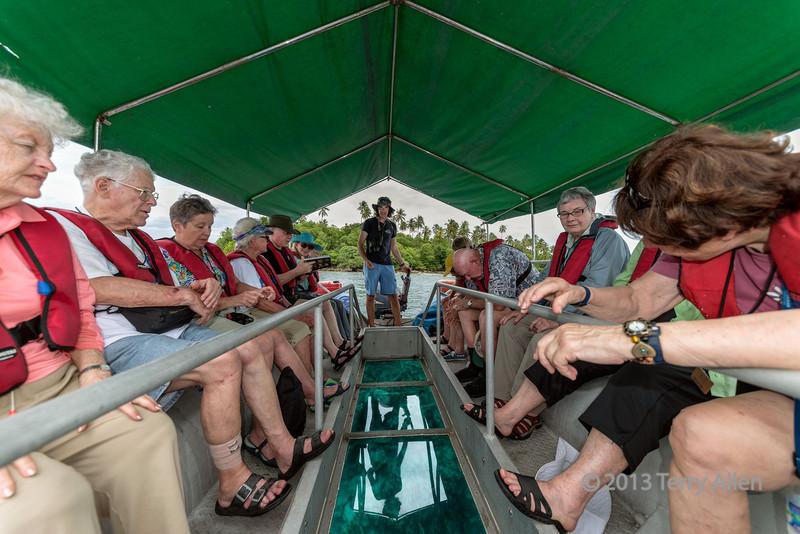 Glass bottom boat-1, Ghizo Island, Solomon Islands