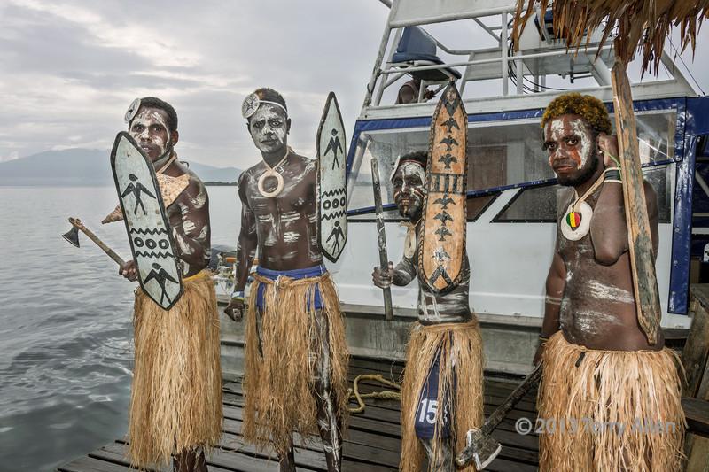 Warrior 'welcoming' party-1, Ghizo Is, Solomon Islands