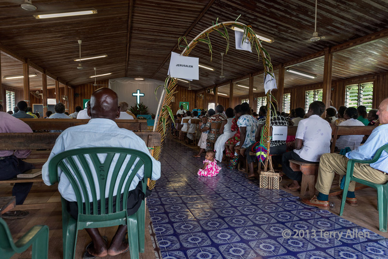 Easter Sunday service, Wesley United Church, Ghizo Is, Solomon Islands