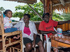 DJ and family-2, Ghizo Hotel, Ghizo Is, Solomon Islands
