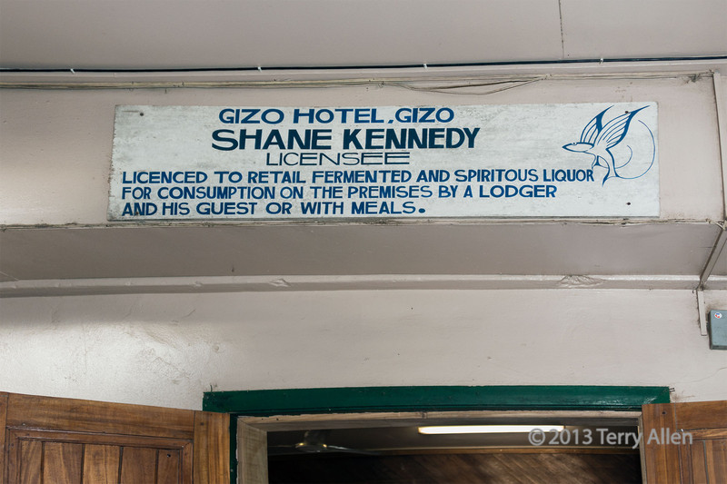 Ghizo Hotel sign, Ghizo Is, Solomon Islands
