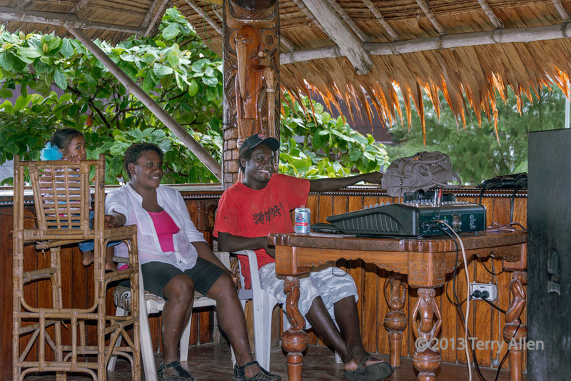 DJ and family-1, Ghizo Hotel, Ghizo Is, Solomon Islands