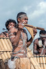 Pan-pipe player, Honiara, Guadalcanal Island, Solomon Islands
