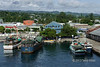 Honiara harbour and town with local ships, Guadalcanal Is, Solomon Islands