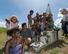 Islanders selling WWII artefacts-2, Bloody Ridge Memorial, Guadalcanal Is, Solomon Islands