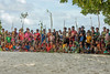 Villagers gathering for a show, Kitava Island, Trobriand Islands, PNG