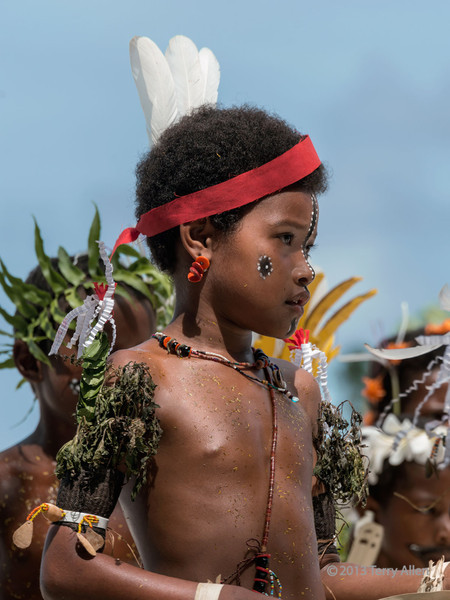 Portrait of a young girl, Kitava Island, Trobriand Islands, PNG