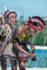 Young women doing traditional dance, Kitava Island, Trobriand Islands, PNG