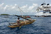 Outriggers and Clipper Odyssey, Kitava Island, Trobriand Islands, PNG
