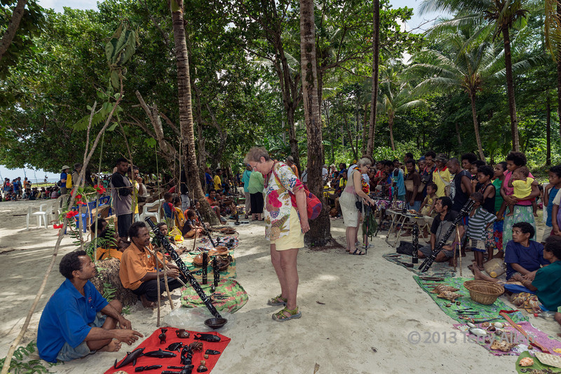 Buying artifacts, Kitava Island, Trobriand Islands, PNG