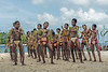 Young men and boys performing dance, Kitava Island, Trobriand Islands, PNG