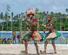 Boy and girl dancers-2, Kitava Island, Trobriand Islands, PNG