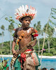 Portrait of a young boy dancer, Kitava Island, Trobriand Islands, PNG