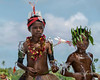 Boy and girl dancers, Kitava Island, Trobriand Islands, PNG