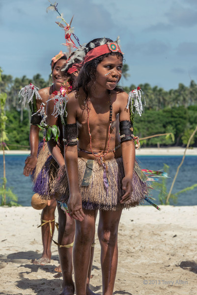 Young girl dancers-2, Kitava Island, Trobriand Islands, PNG
