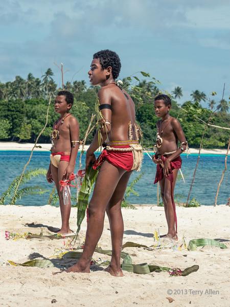 Three boys, Kitava Island, Trobriand Islands, PNG